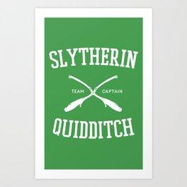 Hogwarts Quidditch Team: Slytherin Art Print