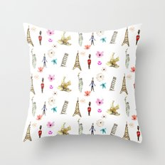 Travelling Fleur Throw Pillow
