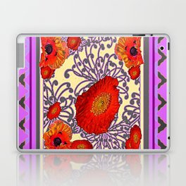 Decorative Lilac Poppy Floral Laptop & iPad Skin