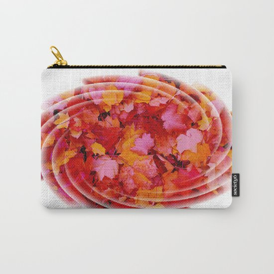 Swirling colored leaves Carry-All Pouch