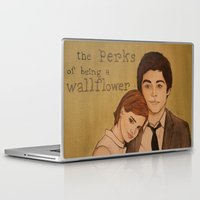 the perks of being a wallflower Laptop & iPad Skins featuring The Perks of Being a Wallflower by Gillian Head