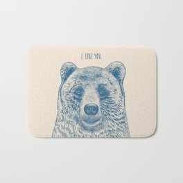 Bear (Ivory) Bath Mat
