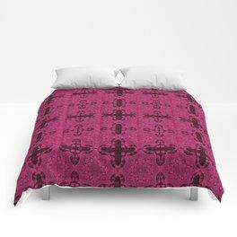 Pink Yarrow Abstract Comforters