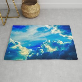 Dramatic Stormy Clouds In The Windy Sky Rug