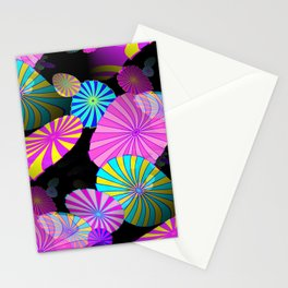 Floating Shapes Stationery Cards