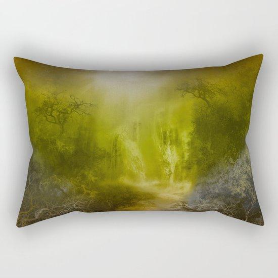 gold forest landscape Rectangular Pillow