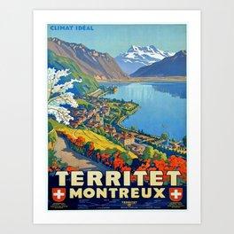 Vintage poster - Territet Montreaux Art Print
