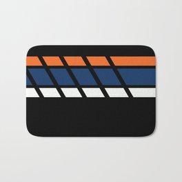 Team Colors...blue,orange Bath Mat