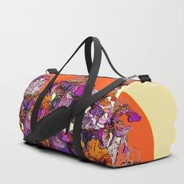 """modern art """" PURPLE & CREAM """" ORANGE IRIS GARDEN Duffle Bag"""