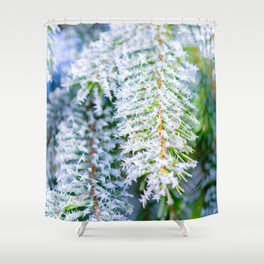 Bitter Cold, White Fairy Tale Shower Curtain