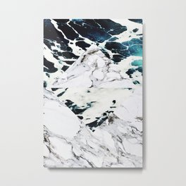 Ocean + Marble Metal Print