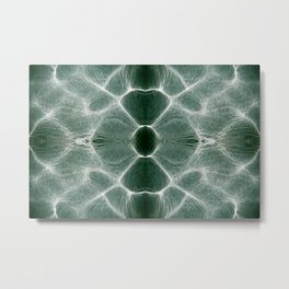 Water shiny green ripples Metal Print