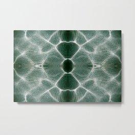 Water shiny green ripples Metal Print