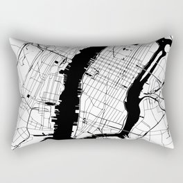 New York City Minimal Map Rectangular Pillow