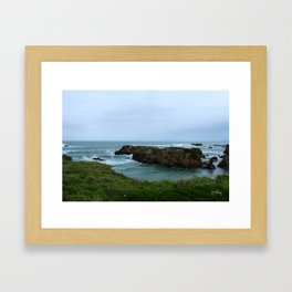 Cool coast Framed Art Print