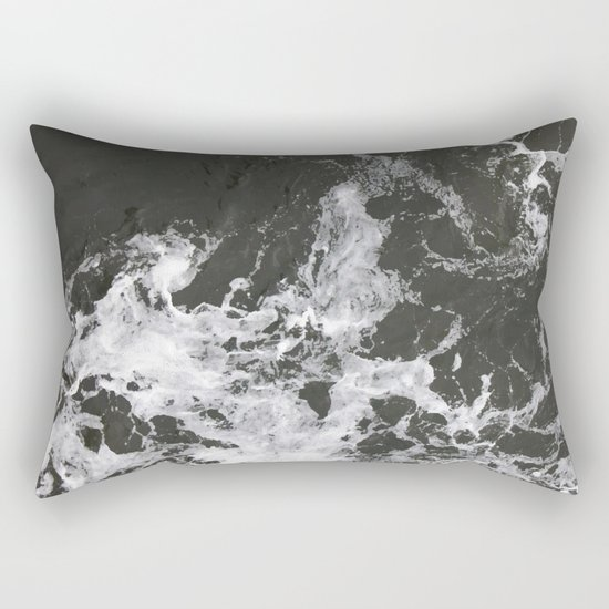 Black Water + Marble #society6 #decor #buyart Rectangular Pillow