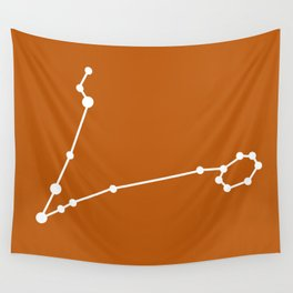 Pisces (White & Bronze) Wall Tapestry