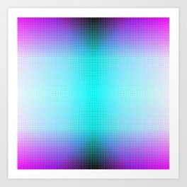 Purple Blue Black Ombre Hexagons Bi-lobe Contact binary Art Print