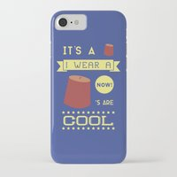 fez iPhone & iPod Cases featuring I Wear A Fez Now by Posters 4 Progress