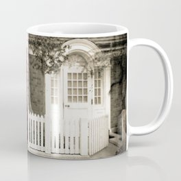Red Telephone Booth Sepia Spot Color Photography Coffee Mug