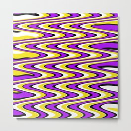 Purple gold white and black slur Metal Print