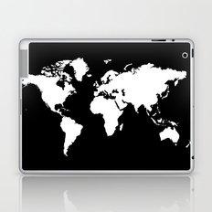 Black white world map Laptop & iPad Skin