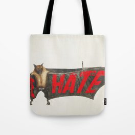 Love Hate Bat Tote Bag