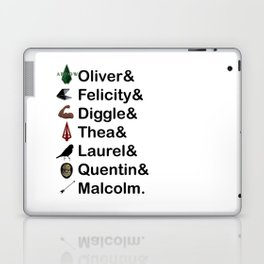 Arrow Names Laptop & iPad Skin