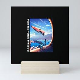 The future is now Mini Art Print