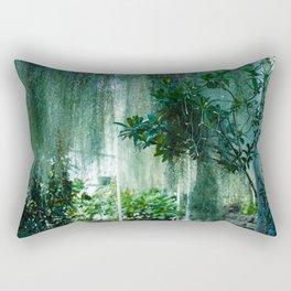 Green Lit Rectangular Pillow