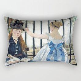 Edouard Manet - Le Chemin de fer (The Railroad) Rectangular Pillow
