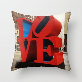 Love Sculpture - NYC Throw Pillow
