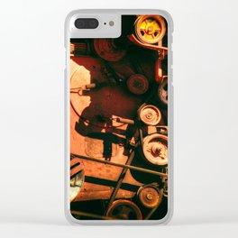 Scarlet Soviet Combine Warp Clear iPhone Case