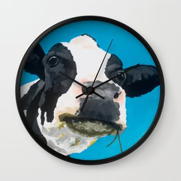 Margot the Relaxed Cow Wall Clock