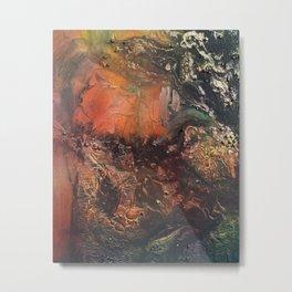 Nebula // abstract texture painting Metal Print