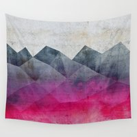 concrete Wall Tapestries featuring Pink Concrete by cafelab