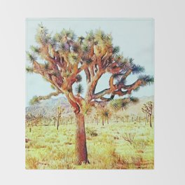 Joshua Tree VG Hills by CREYES Throw Blanket