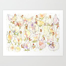 Chicks Art Print
