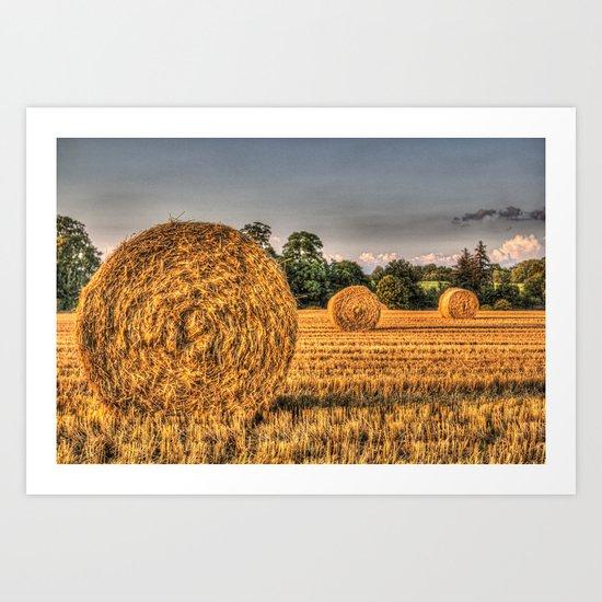 Bales of straw Art Print