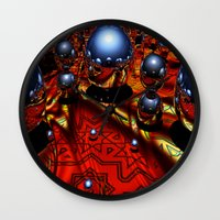 guardians Wall Clocks featuring Guardians by Robin Curtiss