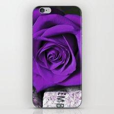 PURPLE ROSE on cork iPhone & iPod Skin