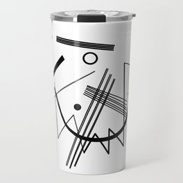 Kandinsky - Black and White Abstract Art Travel Mug