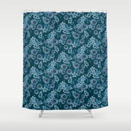 Blue June Floral Shower Curtain