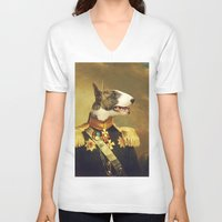 general V-neck T-shirts featuring General Bully by Bakus