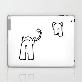 pair of elephants say goodbye Laptop & iPad Skin