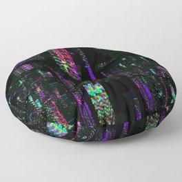 Miami Glitch Floor Pillow