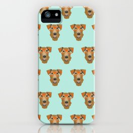 Airedale Glasses airedale dog print airedale pillow dog pattern iPhone Case