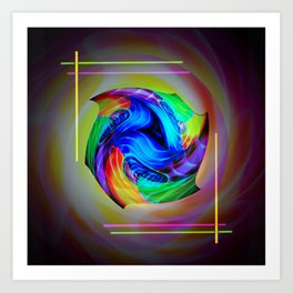 Abstract in perfection - Cube 5 Art Print