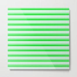 Green stripes. Metal Print
