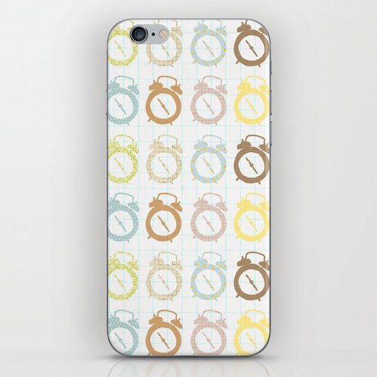 clocks pattern iPhone & iPod Skin